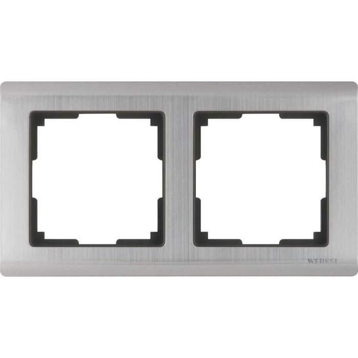 Рамка на 2 поста  WL02-Frame-02, цвет никель