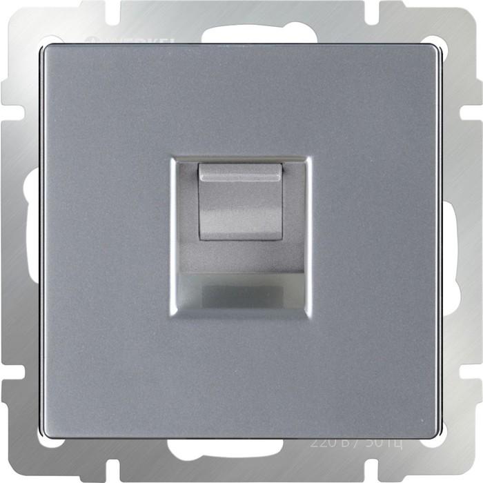 Телефонная розетка RJ-11  WL06-RJ-11, цвет серебряный