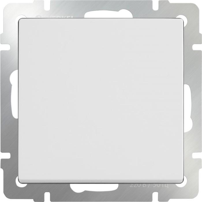 Перекрестный переключатель одноклавишный  WL01-SW-1G-C, цвет белый