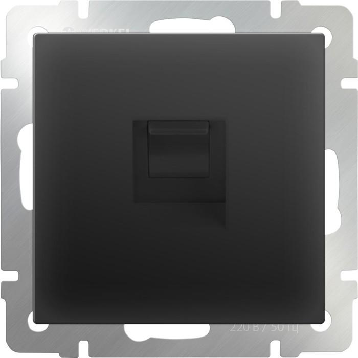Розетка Ethernet RJ-45  WL08-RJ-45, цвет черный