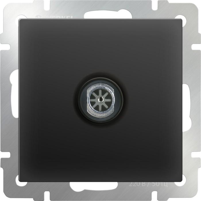 ТВ-розетка проходная  WL08-TV-2W, цвет черный