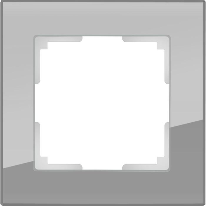 Рамка на 1 пост  WL01-Frame-01, цвет серый, материал стекло