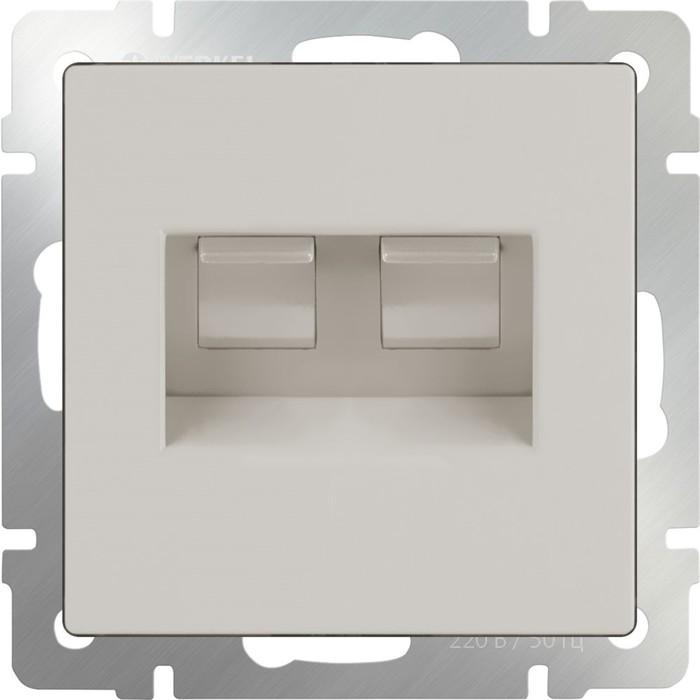 Розетка двойная Ethernet RJ-45  WL03-RJ45+RJ45, цвет слоновая кость