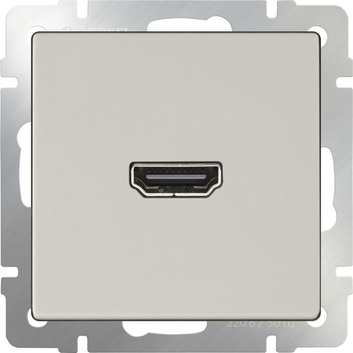 Розетка HDMI  WL03-60-11, цвет слоновая кость