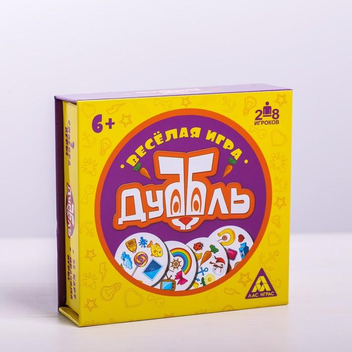 Настольная семейная игра на реакцию «Дуббль» в подарочной коробке