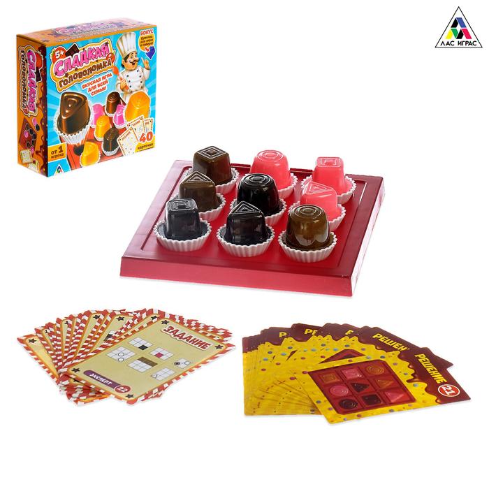 Настольная игра-головоломка «Сладкая головоломка», 40 карточек с заданиями