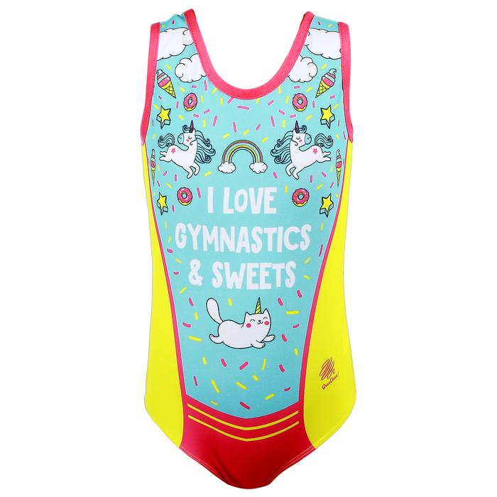 Купальник для спортивной гимнастики Love Gymnastics, размер 40