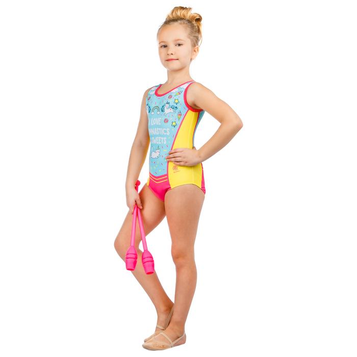 Купальник для спортивной гимнастики Love Gymnastics, размер 42