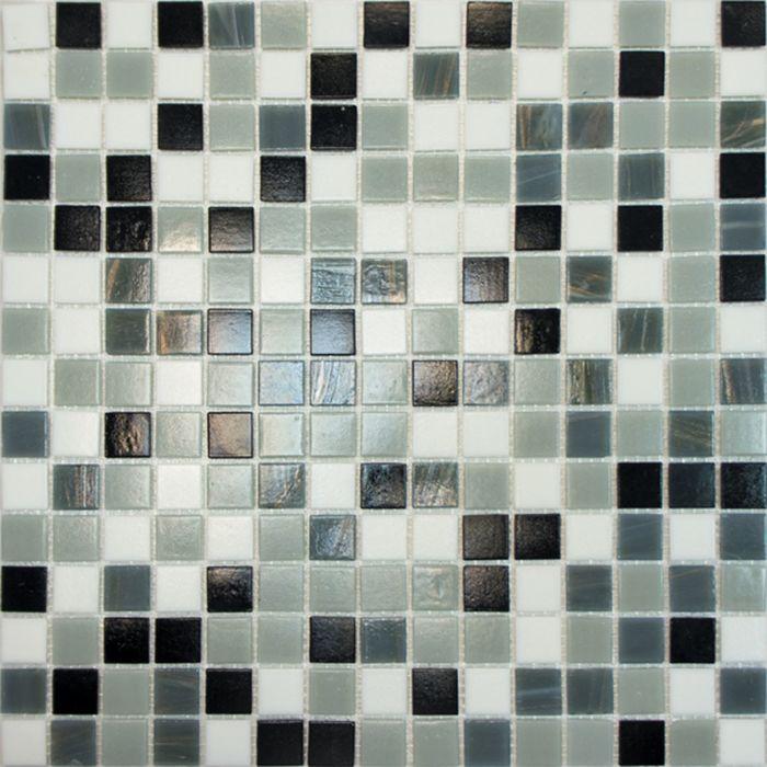 Mозаика стеклянная Elada Mosaic HK-16, серая, 327х327х4 мм