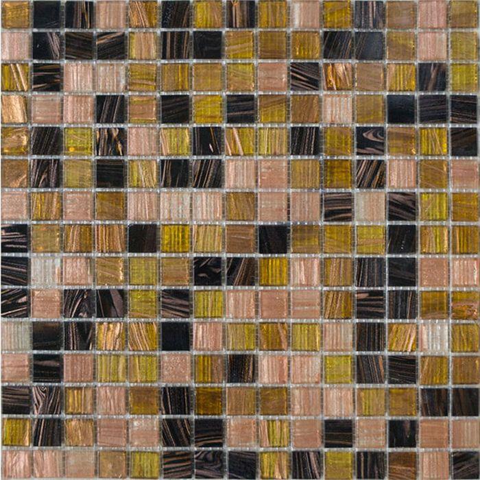 Mозаика стеклянная Elada Mosaic HK-48, шоколадно-карамельная, 327х327х4 мм