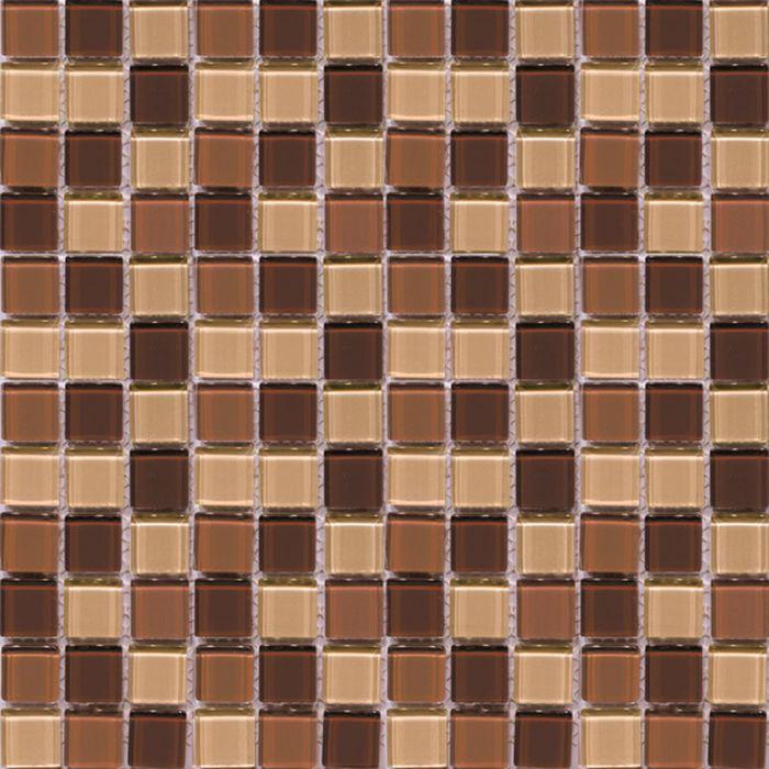 Mозаика стеклянная Elada Mosaic CB512, шоколадная, 327х327х4 мм