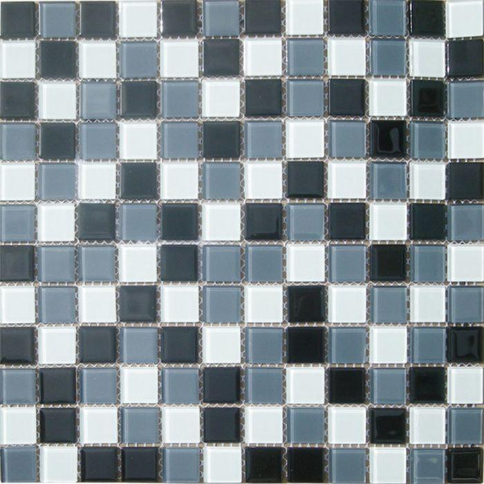 Mозаика стеклянная Elada Mosaic CB005, чёрно- белая, 327х327х4 мм