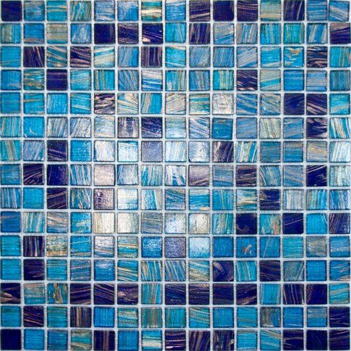 Mозаика стеклянная Elada Mosaic HK-21, синяя, 327х327х4 мм