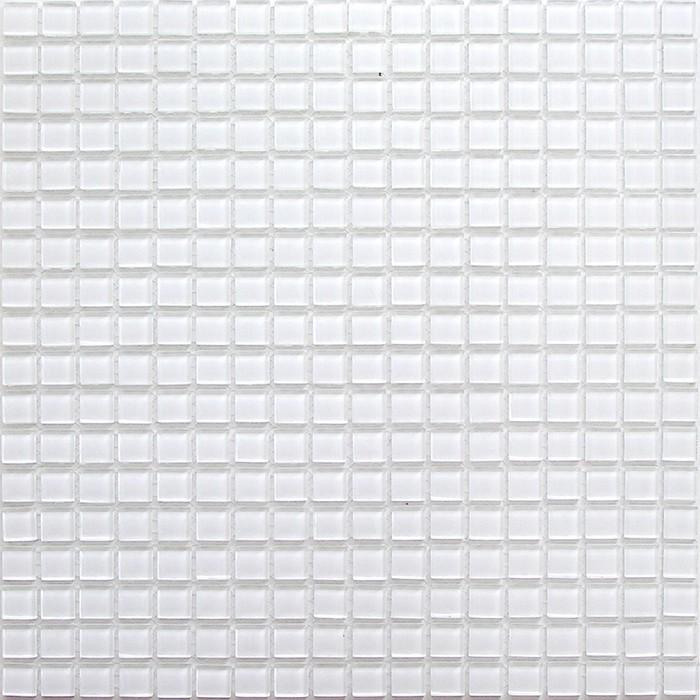 Mозаика стеклянная Elada Mosaic A101, белая, 327х327х4 мм