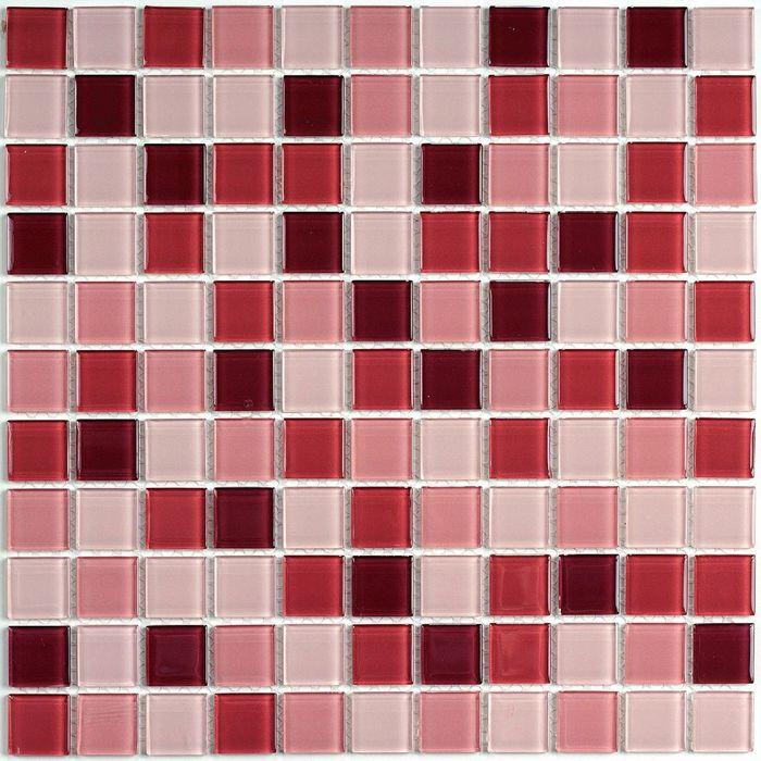 Мозаика стеклянная Bonaparte, Plum mix 300х300х4 мм