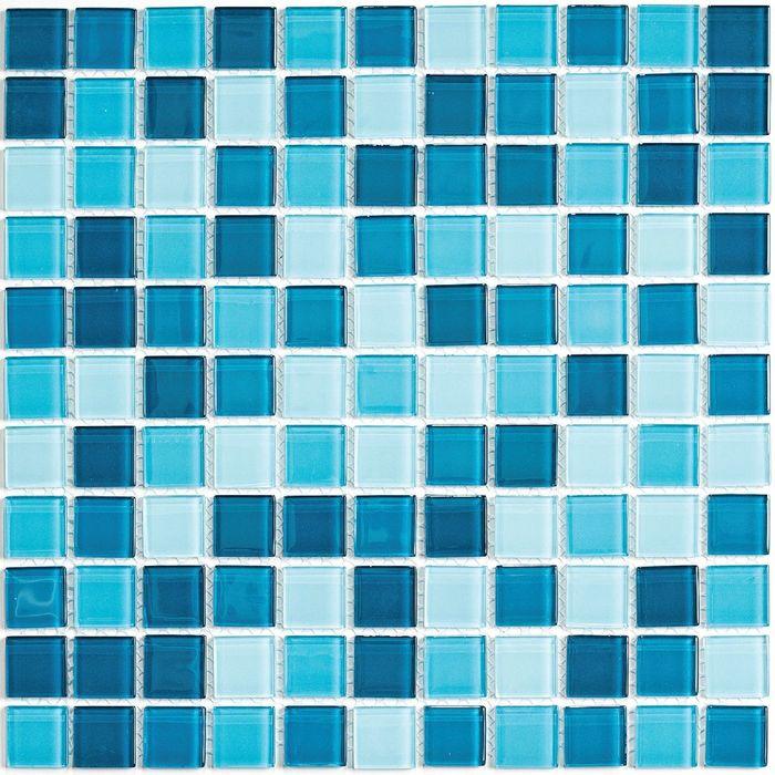 Мозаика стеклянная Bonaparte, Sea wave-1 300х300х4 мм