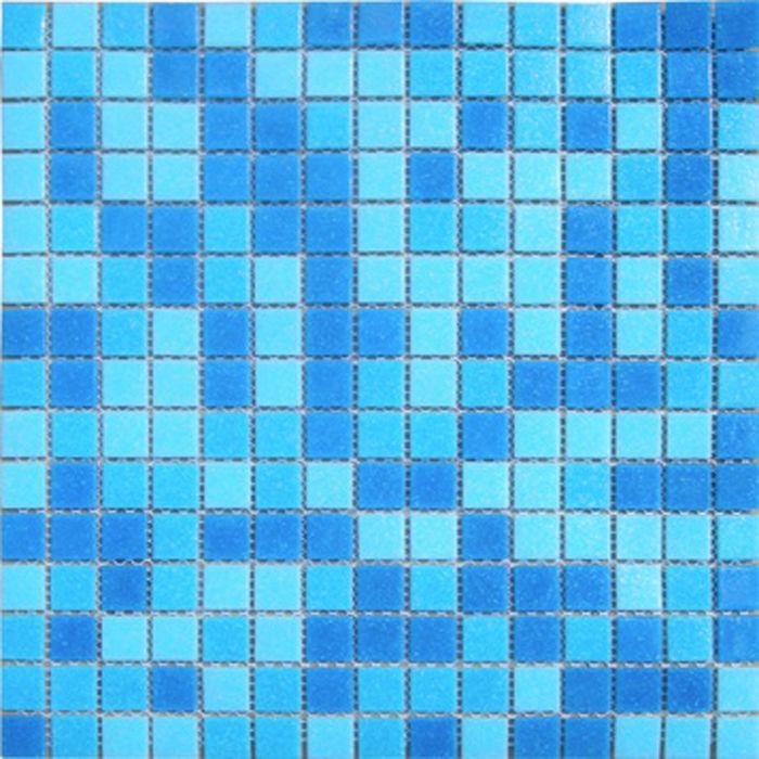 Mозаика стеклянная Elada Mosaic МС107Р, голубая на бумаге, 327х327х4 мм