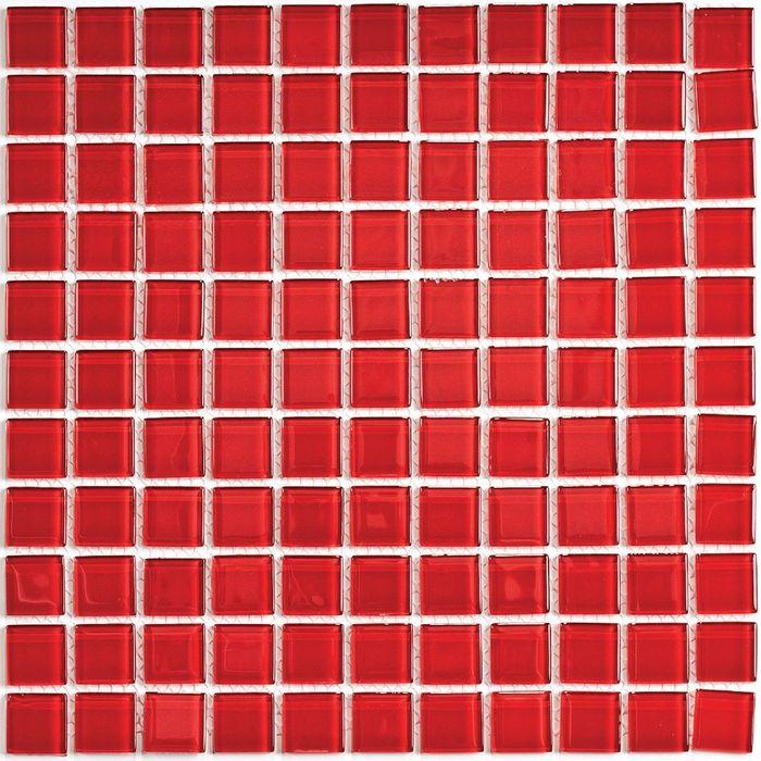 Мозаика стеклянная Bonaparte, Red glass 300х300х4 мм