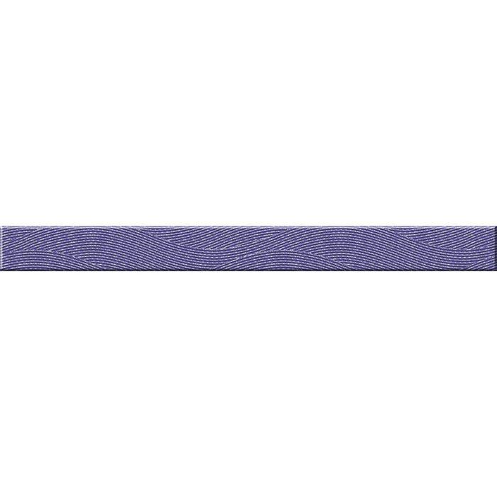 Бордюр стеклянный Wave WA7H121, фиолетовый, 40х440 мм