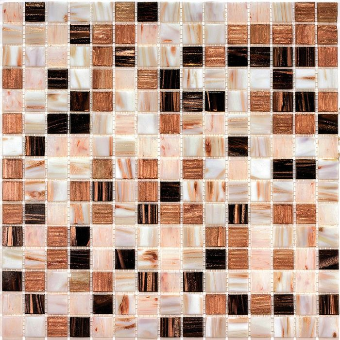 Мозаика стеклянная с камнем Bonaparte, Step-1 327х327х4 мм