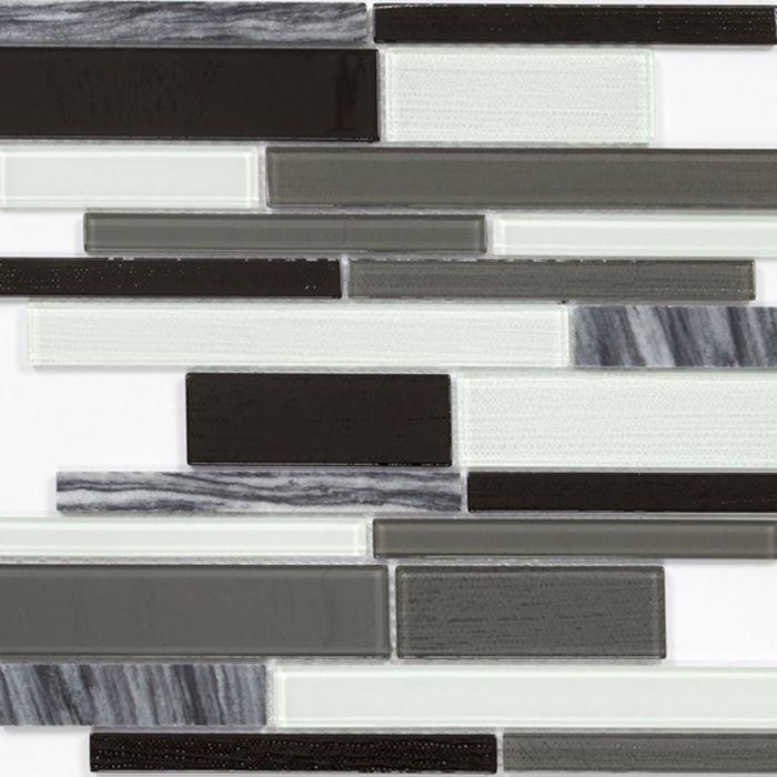 Mозаика стеклянная Elada Mosaic N25, шахматный long size Crystal+Stone, 286х298х4мм