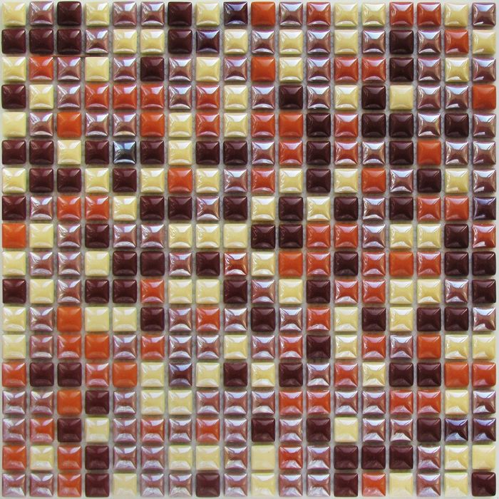 Мозаика стеклянная Bonaparte, Caramel 300х300х8 мм