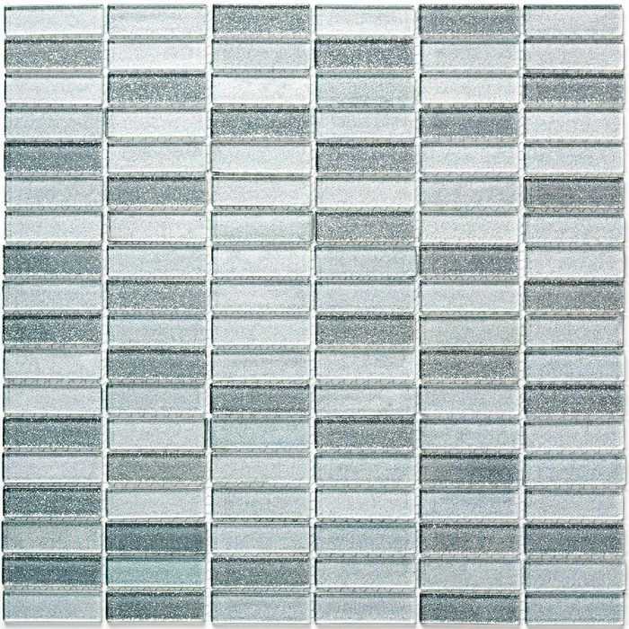 Мозаика стеклянная Bonaparte, Silver Light 300х300х4 мм