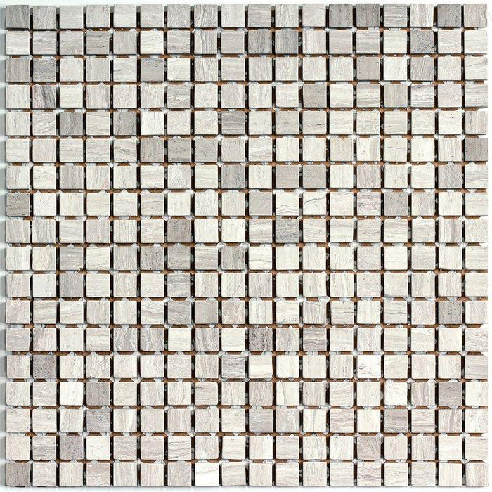 Мозаика стеклянная с камнем Bonaparte, Dunes-15 305х305х7 мм