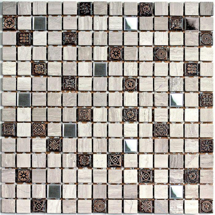 Мозаика из натурального камня Bonaparte, Milan-2 305х305х7 мм