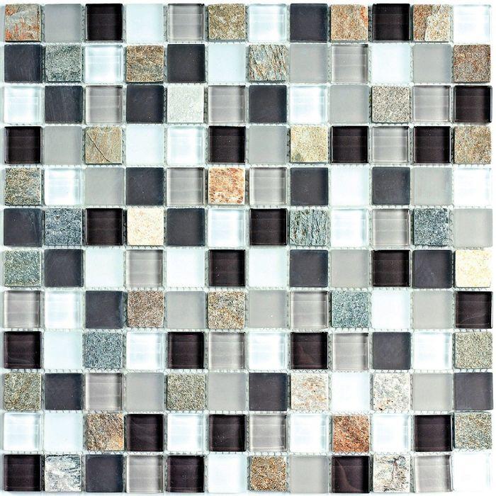 Мозаика стеклянная с камнем Bonaparte, Style time-23 300х300х8 мм