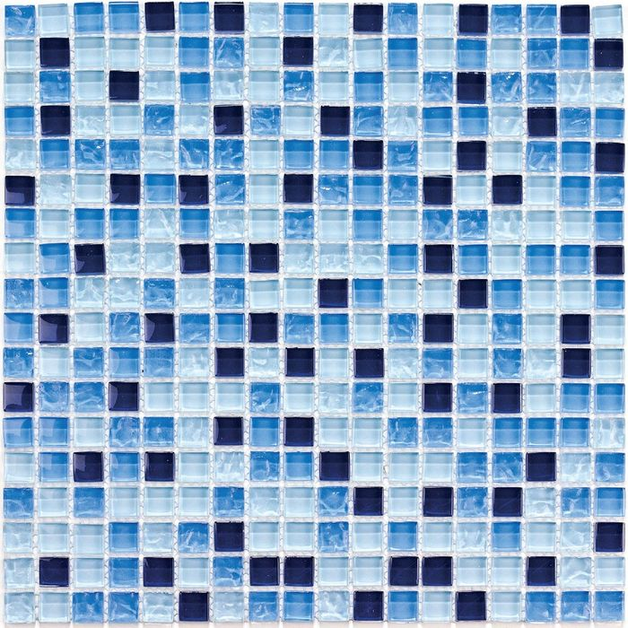 Мозаика стеклянная Bonaparte, Bluе Drops 300х300х8 мм