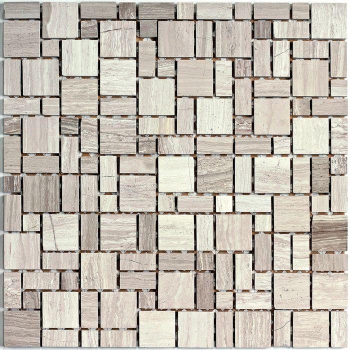 Мозаика стеклянная с камнем Bonaparte, Dunes 305х305х7 мм