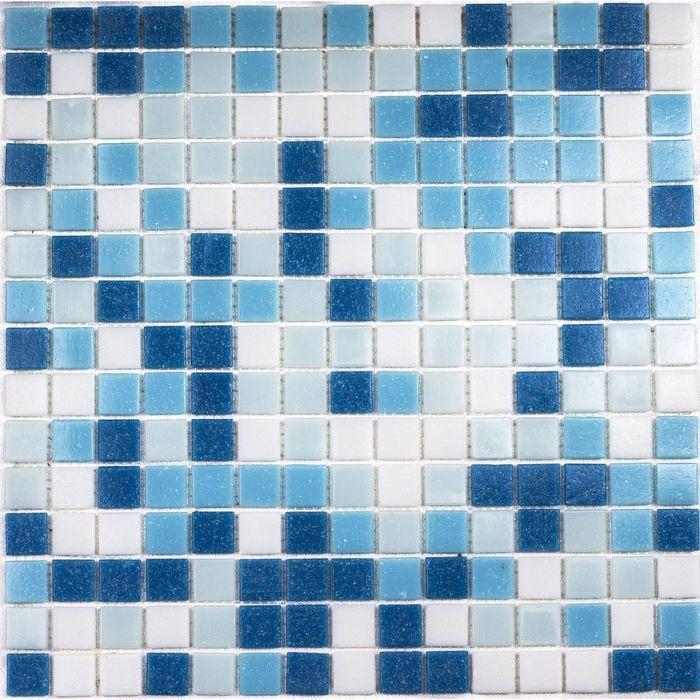 Мозаика стеклянная на бумаге Bonaparte, Aqua-200 327х327х4 мм
