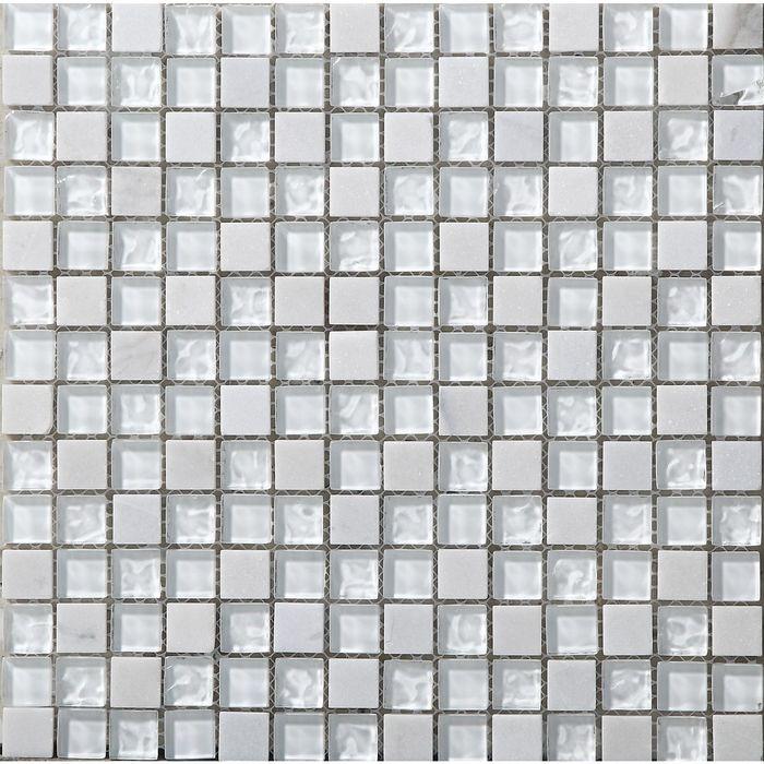 Мозаика стеклянная с камнем Bonaparte, Iceberg 300х300х8 мм