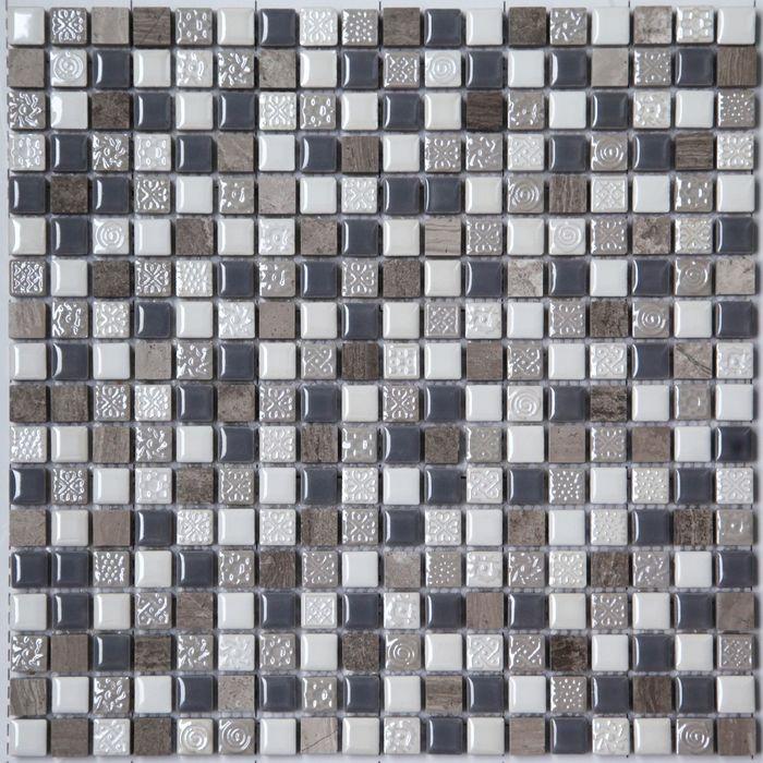 Мозаика керамическая Bonaparte, Smoke 300х300х8 мм