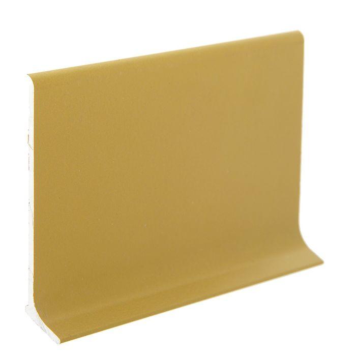 Плинтус алюминиевый L-образный 60х11х2500 мм, с полимерным покрытием золото