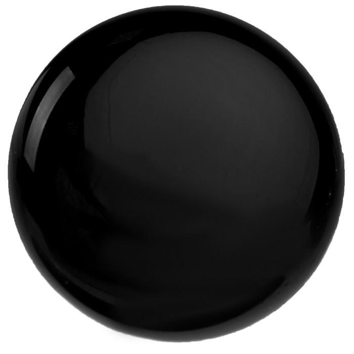 Ручка-кнопка Ceramics 002, керамическая, черная