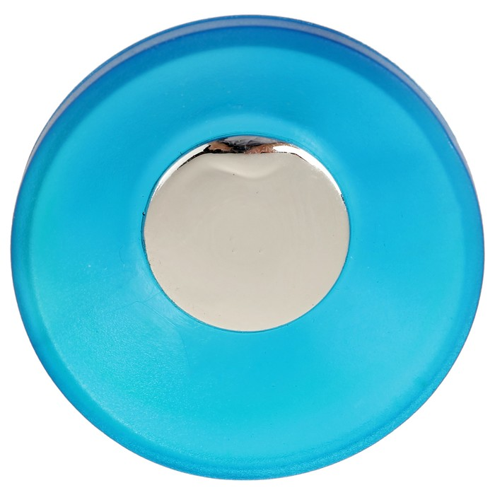 Ручка кнопка PLASTIC 001, пластиковая, синяя