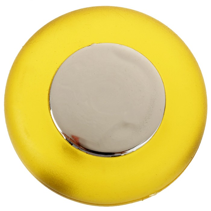 Ручка кнопка PLASTIC 004, пластиковая, желтая