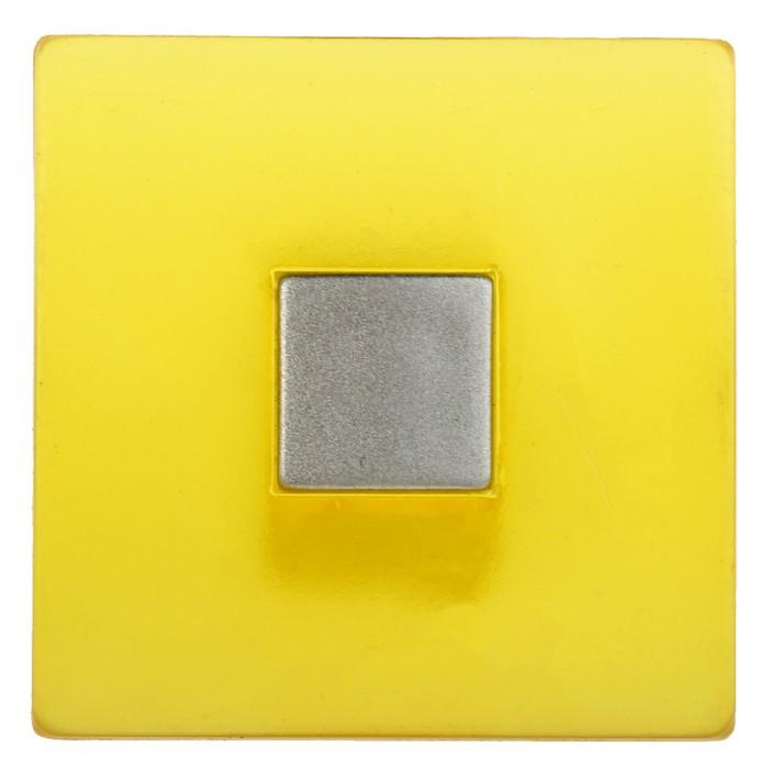 Ручка кнопка PLASTIC 003, пластиковая, желтая