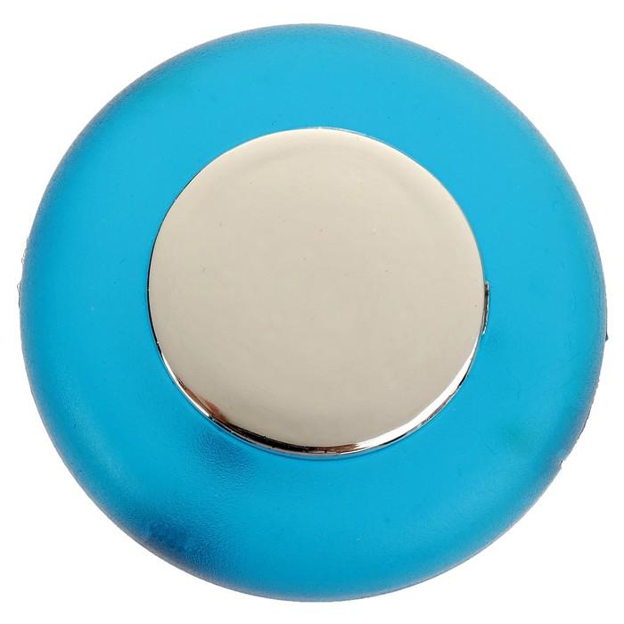Ручка кнопка PLASTIC 004, пластиковая, синяя