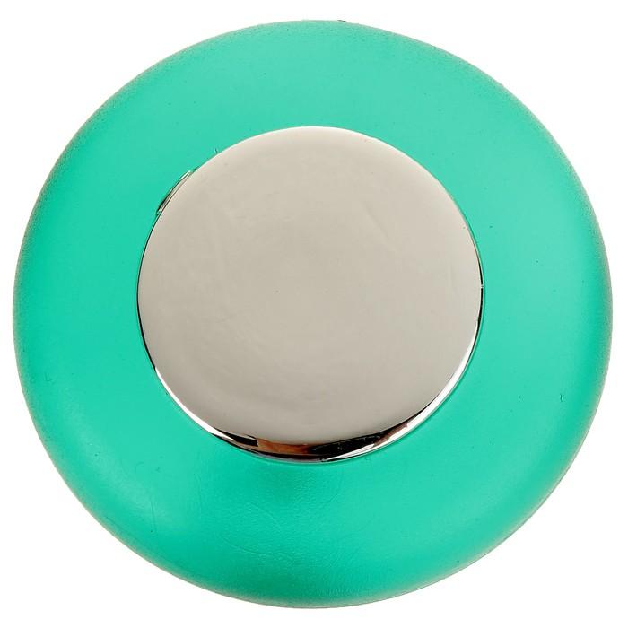 Ручка кнопка PLASTIC 004, пластиковая, зеленая