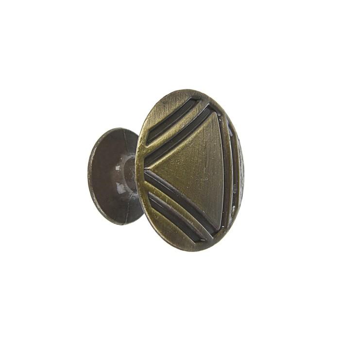 Ручка кнопка РК014AB, цвет бронза