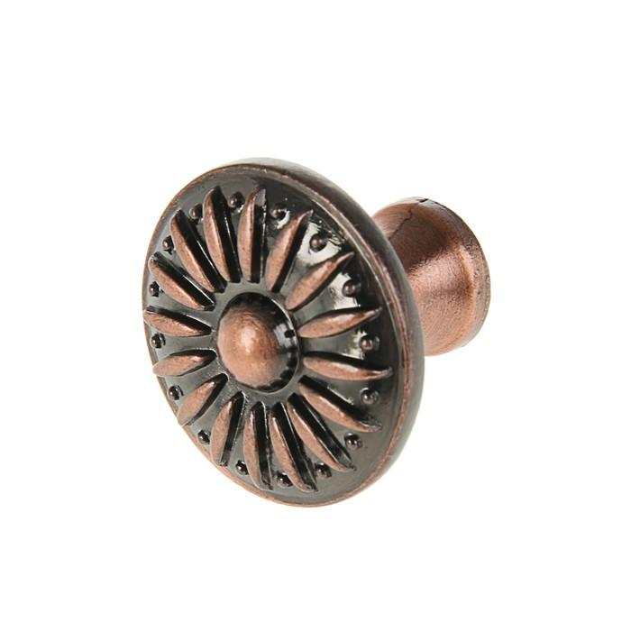 Ручка кнопка РК114, цвет медь