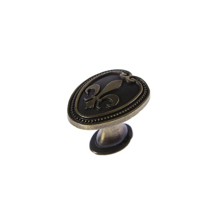 Ручка кнопка РК204, цвет бронза