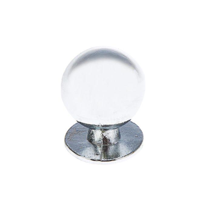 Ручка кнопка РК008, цвет хром