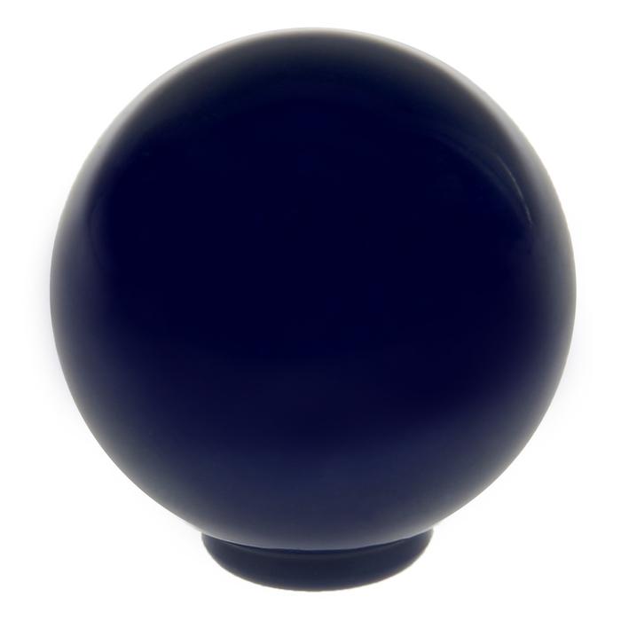 Ручка кнопка PLASTIC 008, пластиковая, синяя