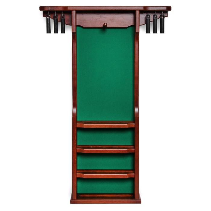 Киёвница настенная «Витория» для 6 киёв, с подвесами, дуб, коричневая