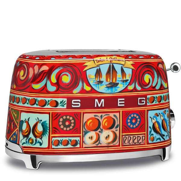 Тостер на 2 ломтика Smeg Dolce&Gabbana TSF01DGEU