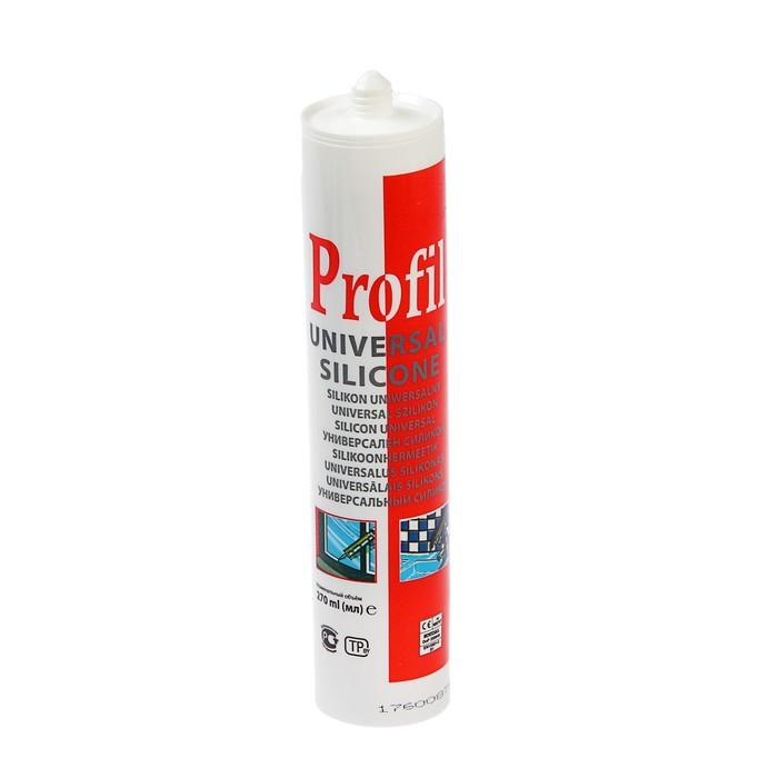 Герметик Soudal Profil, силиконовый, универсальный, белый, 270 мл